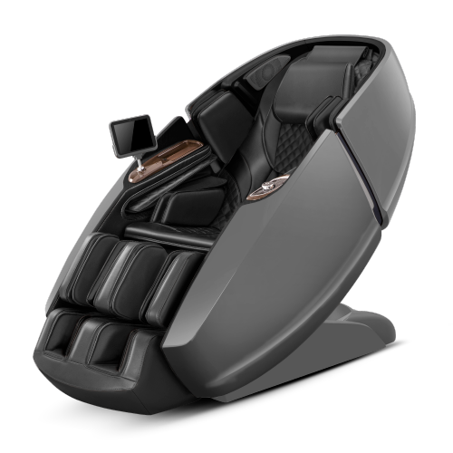 CES massage chair 2020 Supreme Hybrid Yoga massage chair with patented legrest. Hybrid design with Inversion stretch and L-shape massage track